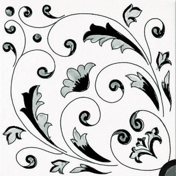 Fiori Scuri Crestarella Nero by Ceramica Francesco De Maio | Ceramic tiles