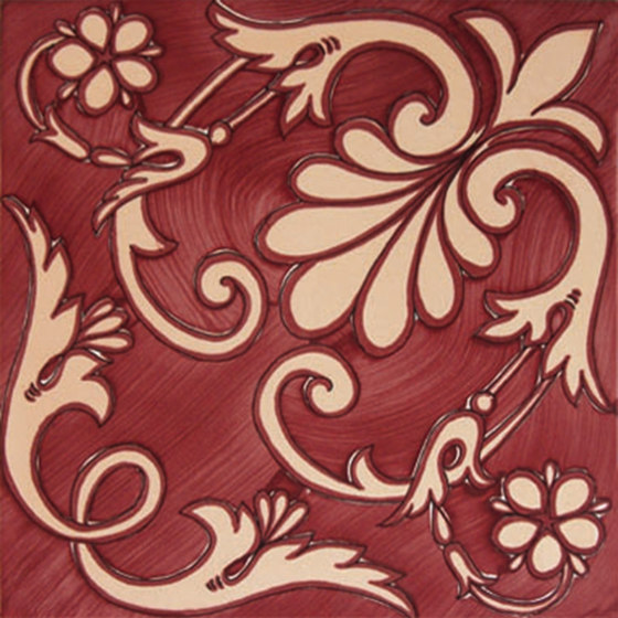 Fiori Scuri Ieranto Rosso by Ceramica Francesco De Maio | Ceramic tiles