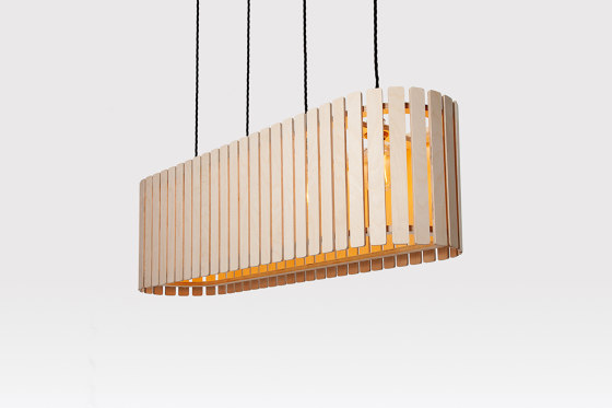 Brixham | Medium Long Drum by Liqui Contracts | Suspended lights
