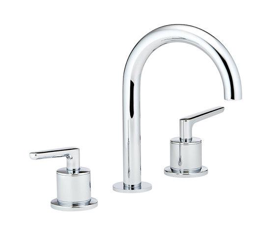 Bondi   Rim mounted 3-hole basin mixer by THG Paris   Wash basin taps