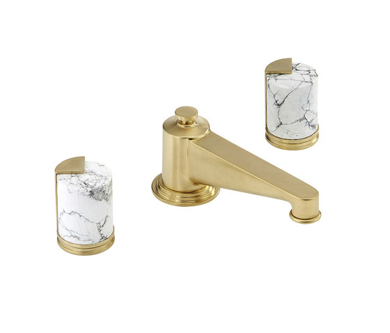 Le 9 | Rim mounted 3-hole basin mixer by THG Paris | Wash basin taps