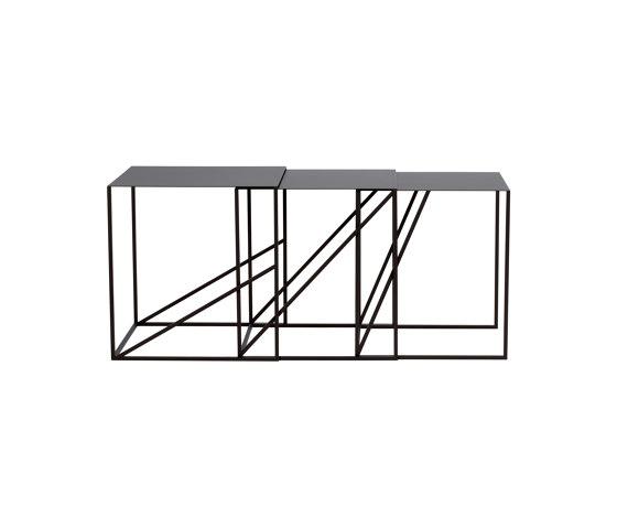Oblique Sliding Table Set by ASPLUND | Nesting tables
