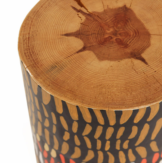 Ayo Hand Painted Log Table by Pfeifer Studio | Side tables