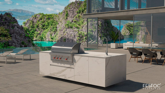 EMPIRE OUTDOOR KITCHEN ISLAND by Fesfoc | Island kitchens