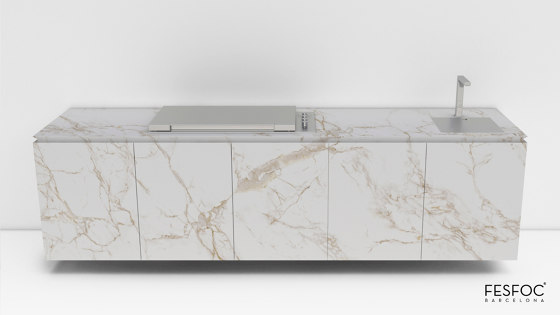 FLOATING OUTDOOR KITCHEN CABINETS EMPIRE by Fesfoc | Fitted kitchens