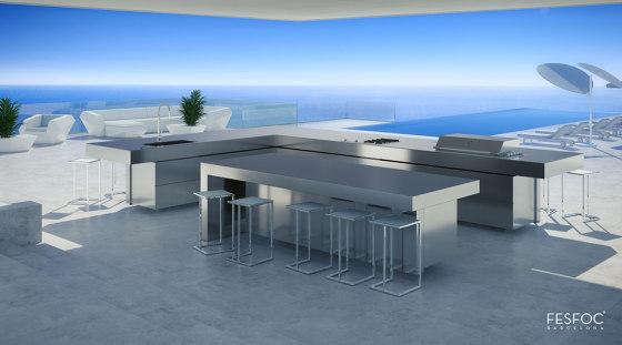 KITCHEN ISLAND STAINLESS STEEL RAIATEA by Fesfoc | Outdoor kitchens