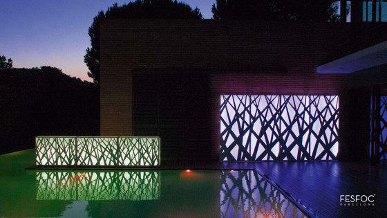 LIGHT WALL PLANTERS by Fesfoc   Outdoor floor lights