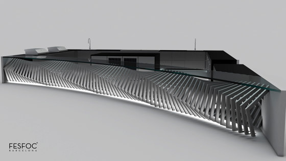LUXURY BAR COUNTER STAINLESS STEEL EMPIRE by Fesfoc | Outdoor kitchens