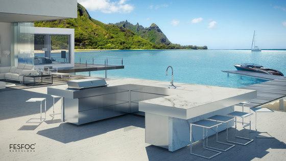 LUXURY U SHAPED KITCHEN ISLAND RAIATEA by Fesfoc | Outdoor kitchens