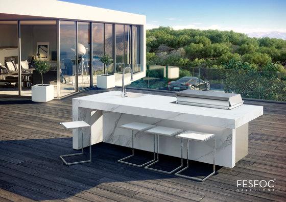 PORCELAIN KITCHEN ISLAND KAUAI by Fesfoc   Outdoor kitchens