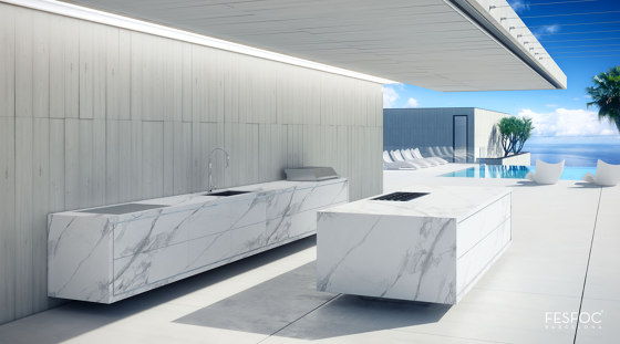 PORCELAIN OUTDOOR KITCHEN ISLAND EMPIRE by Fesfoc | Outdoor kitchens
