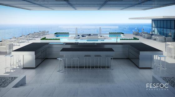 RAIATAEA OUTDOOR KITCHEN ISLAND by Fesfoc   Island kitchens