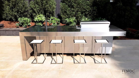 STAINLESS STEEL OUTDOOR KITCHEN ISLAND by Fesfoc | Island kitchens