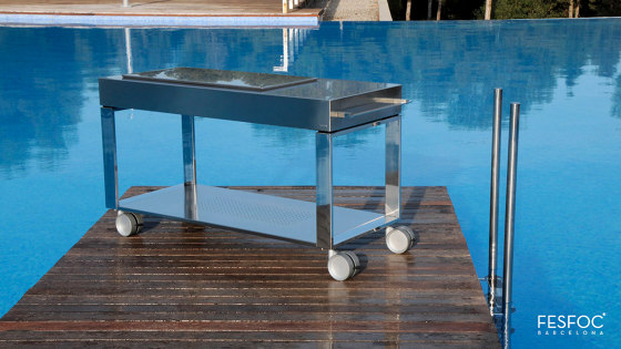 WHEELS LUXURY COAL BARBECUE TACORA by Fesfoc | Barbecues