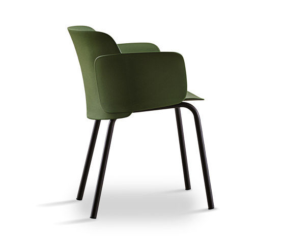 Paper | chair with steel frame round legs by Desalto | Chairs