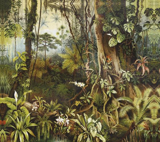 Amazzonia di Inkiostro Bianco   Carta parati / tappezzeria