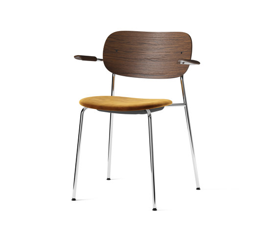 Co Chair w/ Armrest, Chrome / Seat with fabric by MENU   Chairs