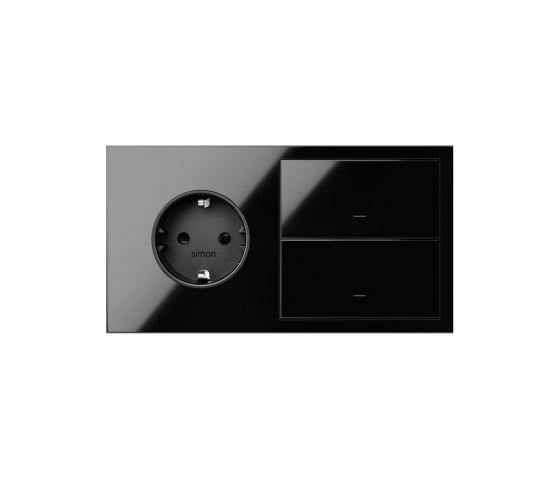 Simon 100 | Kit Socket + Double Switch by Simon | Push-button switches
