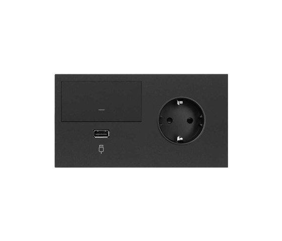 Simon 100 | Kit Switch Dimmer + USB Charger + Socket Schuko de Simon | Interrupteurs à bouton poussoir