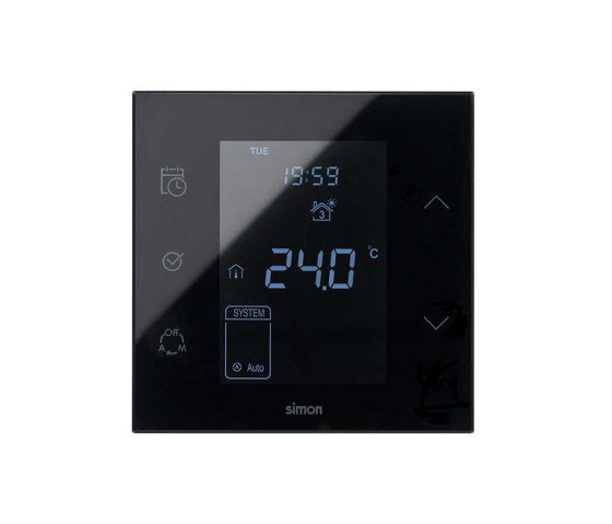 Simon 100 | Black Thermostat by Simon | Heating / Air-conditioning controls