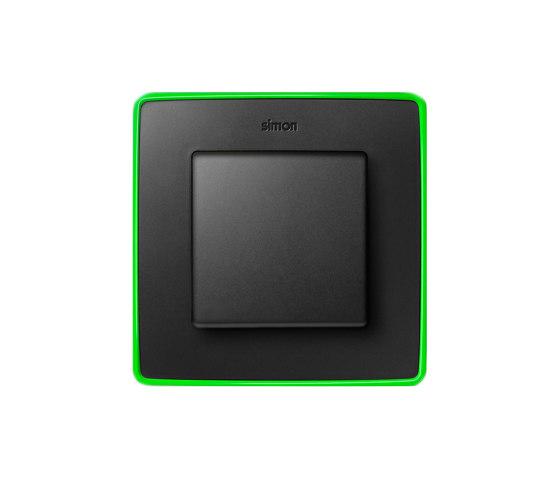 Detail 82   Select Switch Graphite Fluorescent di Simon   Interruttore bilanciere