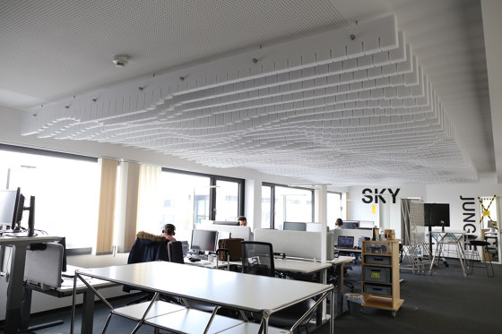 Basotect | designed acoustic baffle basotect by SPÄH designed acoustic | Sound absorbing ceiling systems