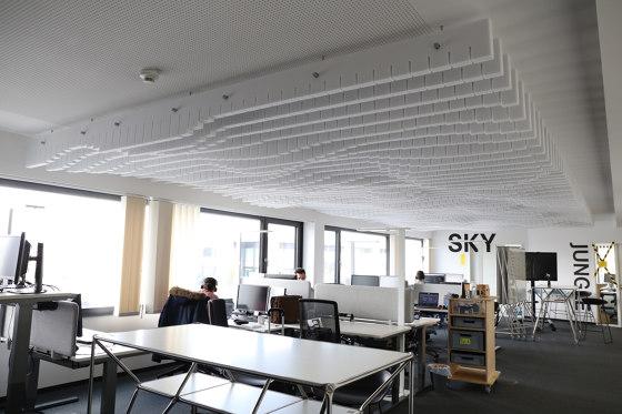 Basotect | designed acoustic baffle connected de SPÄH designed acoustic | Paneles de techo fonoabsorbentes