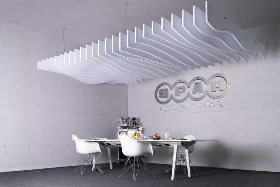 recycled PET | designed acoustic baffle pet by SPÄH designed acoustic | Sound absorbing suspended panels