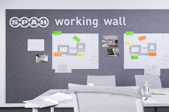recycled greenPET   designed acoustic pinboard by SPÄH designed acoustic   Flip charts / Writing boards