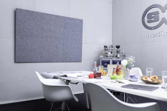 recycled PET | designed acoustic tiles by SPÄH designed acoustic | Sound absorbing wall systems