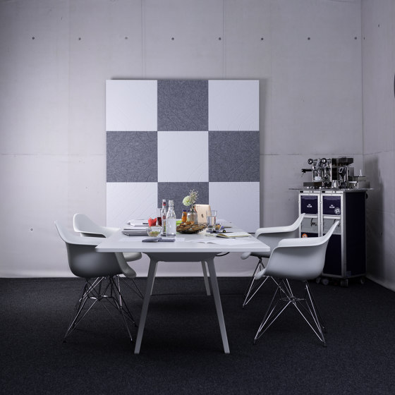 recycled PET   designed acoustic tiles by SPÄH designed acoustic   Sound absorbing wall systems