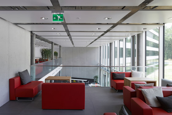 Chilled Metal Ceiling Sail A11 by Barcol-Air | Climate ceiling systems