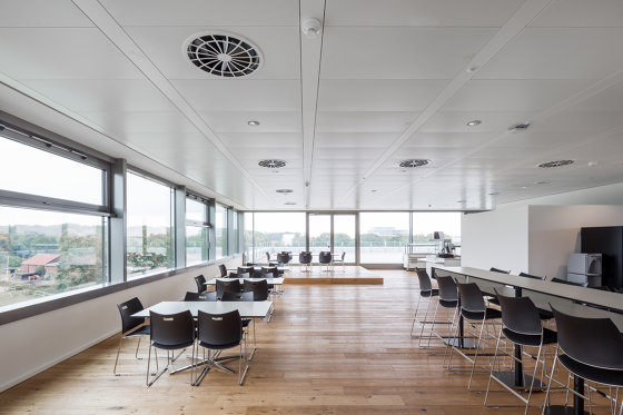 Chilled Metall Ceiling A11 by Barcol-Air | Climate ceiling systems