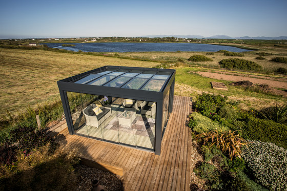 Glass canopy SDL Acubis by Solarlux | Winter gardens