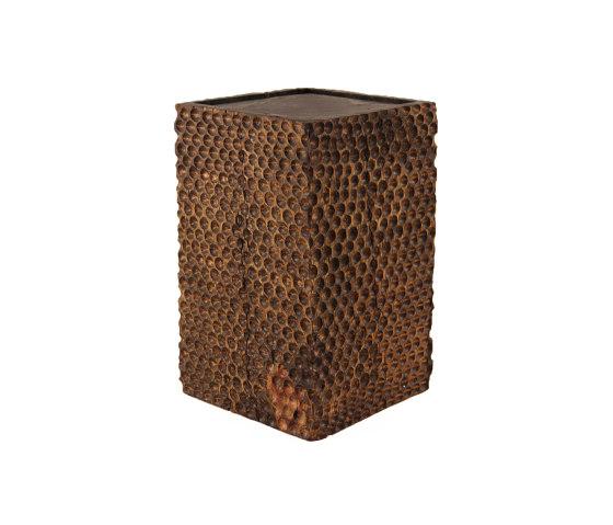 Tallado Wooden Cube Table by Pfeifer Studio | Side tables