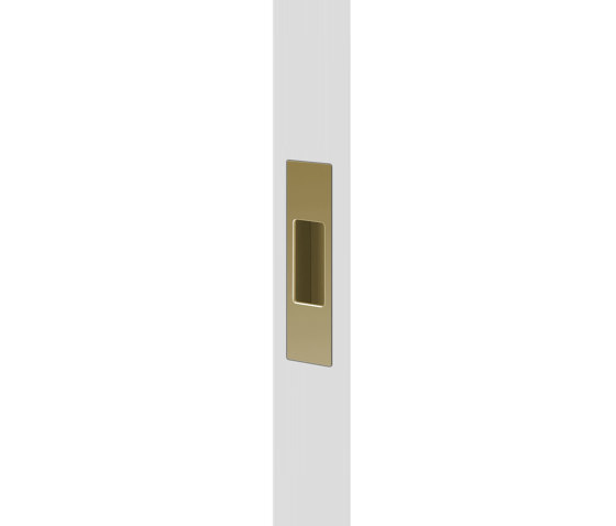 Mardeco End Pull Satin Brass by Mardeco International Ltd. | Flush pull handles