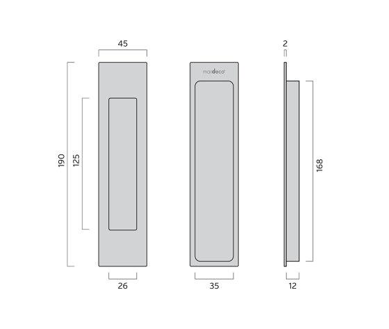 Mardeco Flush Pull Black by Mardeco International Ltd. | Flush pull handles