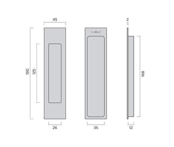 Mardeco Flush Pull Polished Chrome by Mardeco International Ltd.   Flush pull handles