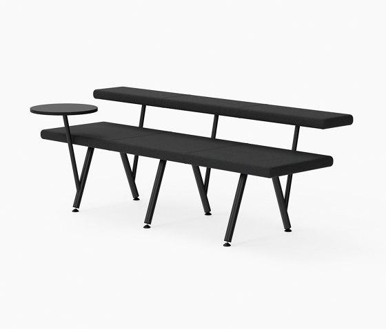 Autobahn, Seat with floating table von Derlot | Sitzbänke