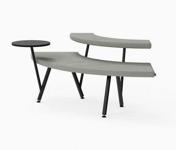 Autobahn, 90˚ Curved seat with floating table von Derlot   Sitzbänke