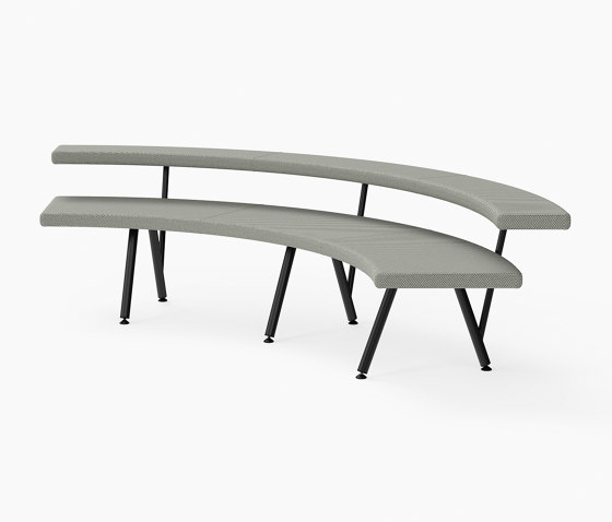 Autobahn, 90˚ Curved seat von Derlot | Sitzbänke