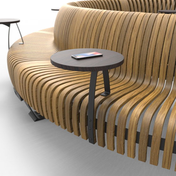 Radius wireless table charger by Green Furniture Concept | Schuko sockets