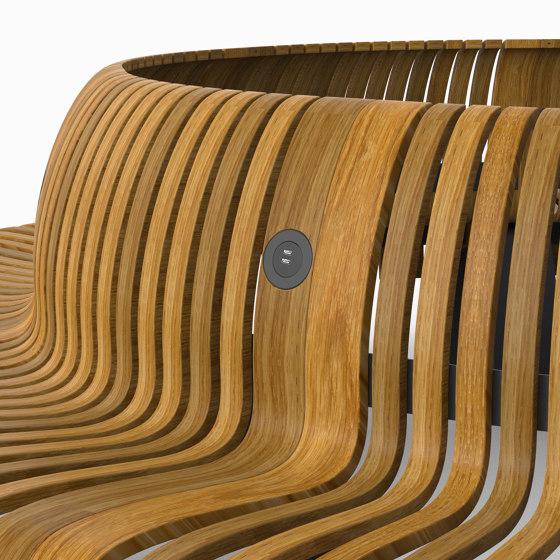 Radius Rib Charger by Green Furniture Concept | Schuko sockets