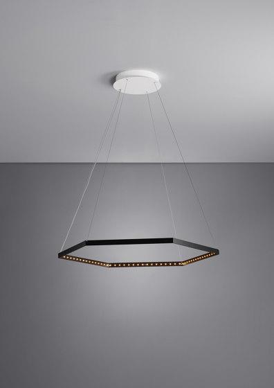 HEXA 1 Black by Le deun   Suspended lights