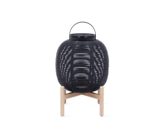 Tika lantern teak base by Vincent Sheppard | Outdoor floor lights