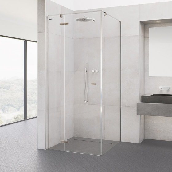 Viva Swing Door by Duscholux AG | Shower screens