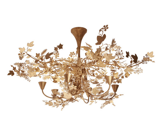 Ivy   Large Ivy Shadow Chandelier by Porta Romana   Ceiling lights
