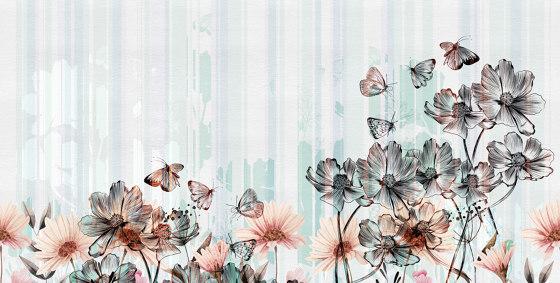 Flowerlines de Inkiostro Bianco | Revestimientos de paredes / papeles pintados