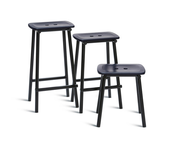 Tubby Tube Counter Stool | Wooden seat by Please Wait to be Seated | Counter stools