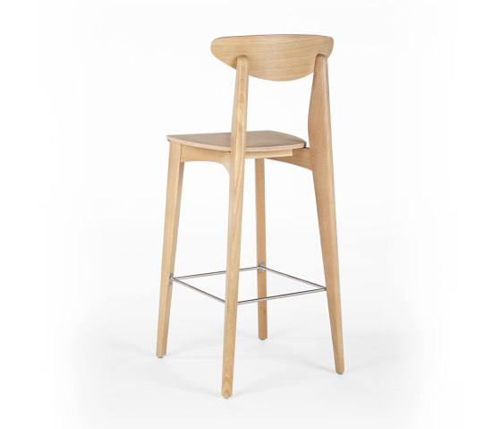 Ink Barstool - Oak Natural by Wildspirit | Bar stools